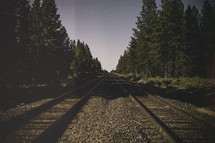 Train tracks in a forest | Grunge | Journey | Vision | Sight