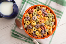 bowl of fruit cereal