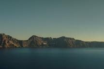 Lake, mountain and sky.