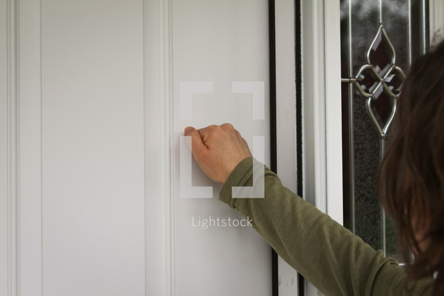 knocking at a front door
