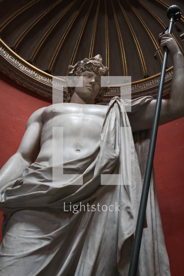 statue in a toga in Rome
