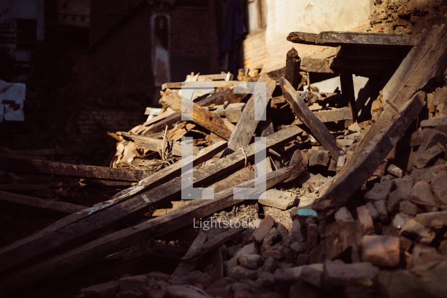 rubble in Nepal