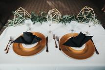 wedding reception bride and grooms table