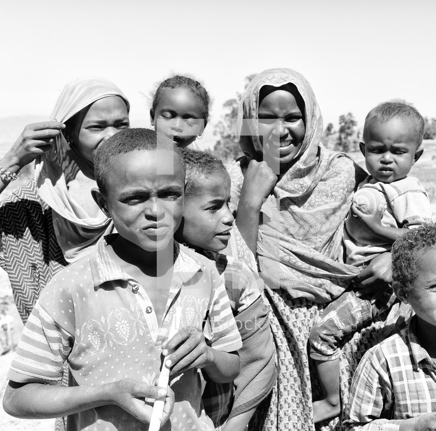 mothers and children in Ethiopia