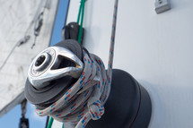 Rope on a sailboat.