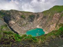 Turquoise blue lake in Volcan, Irazu, Costa Rica