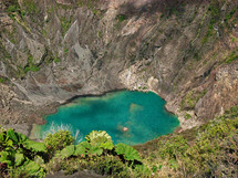 Turquoise blue lake in Volcan, Irazu, Costa Rica
