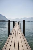 pier over water in Switzerland
