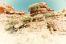 cliffs in the outback