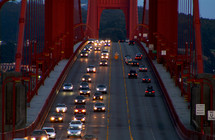 cars on the Golden Gate Bridge