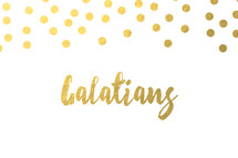 gold dot border, Galatians
