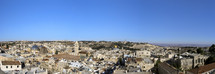 Panoramic view of the City of Jerusalem: The Dome of the Rock, Mount of Olives, Churches and Mosques
