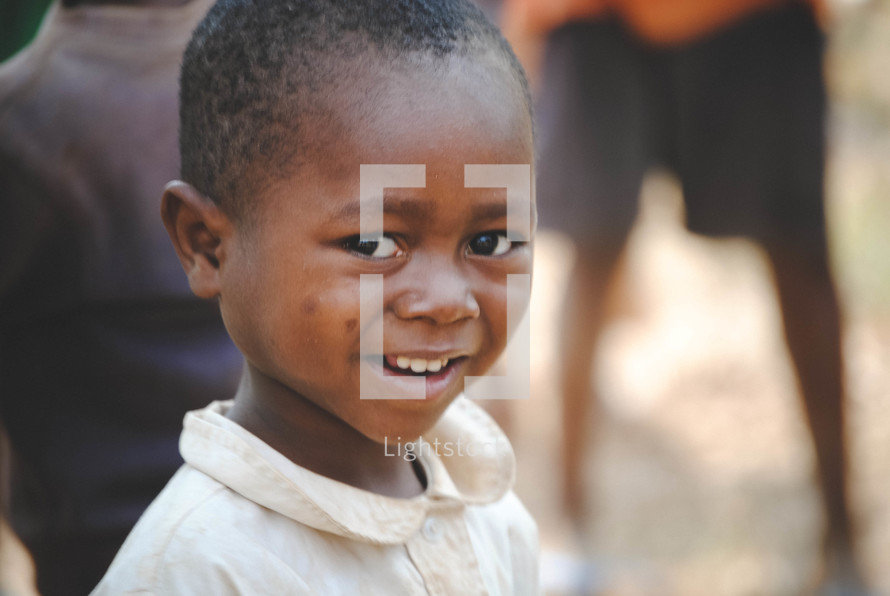 smiling child in Rwanda