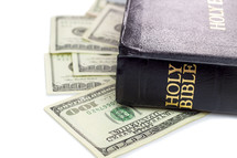 Bible, and cash