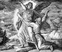 Jacob wrestles with an Angel, Genesis 32: 24-32