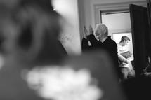 man clapping at a retreat