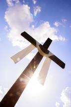 a shrouded cross