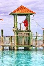 Lifeguard at Disney Lands Cast Away Cay