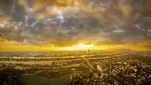 Vienna at sunset