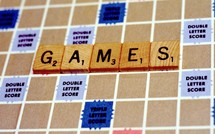 word games on a scrabble board