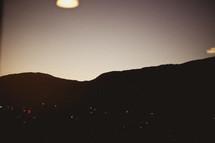 distant village lights at night