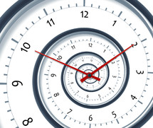 time on a spiral clock