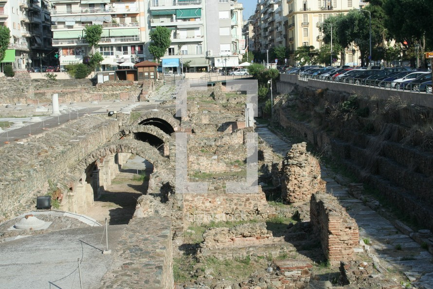 This is a historic marketplace in Thessalonica that would have been visited by the Apostle Paul, Silas, Lydia and early Christians from Acts 17. This agora sat alongside the Egnatian Way.
