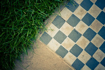 checkered ground