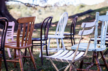 collection of chairs in rows outdoors
