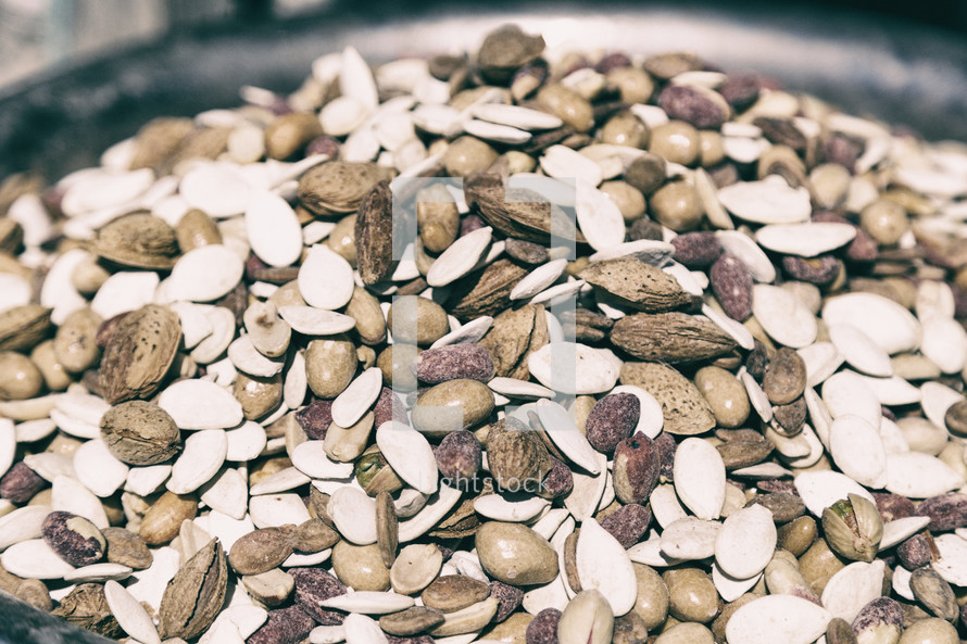 dried fruits, nuts, and seeds