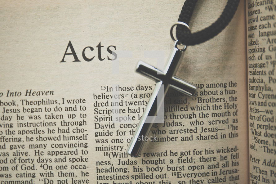 Acts and a cross necklace