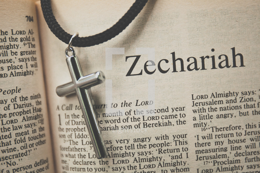 Zechariah and a cross necklace
