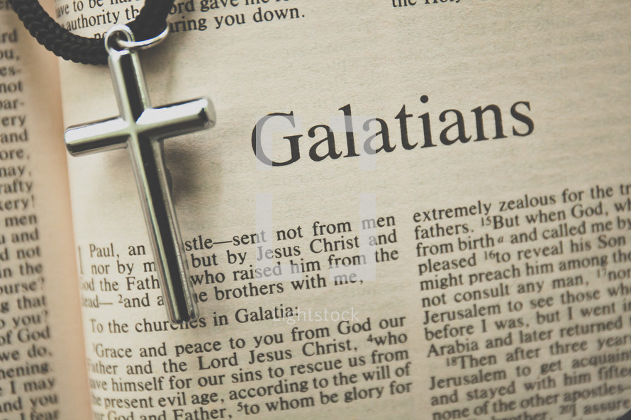 Galatians and a cross necklace