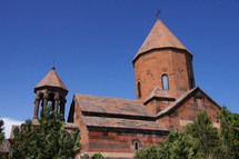 Old Armenian Church made from red stone