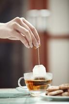 tea bag in a tea cup