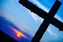 cross at sunrise