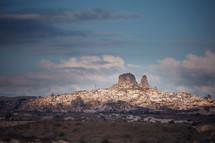 homes built on a mountainside of Cappadocia, Turkey
