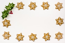 star cookie border and holly