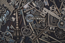 pile of skeleton keys