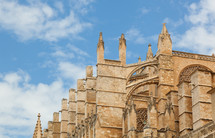 Close up of Palma de Majorca Cathedral, Balearic Islands, Spain