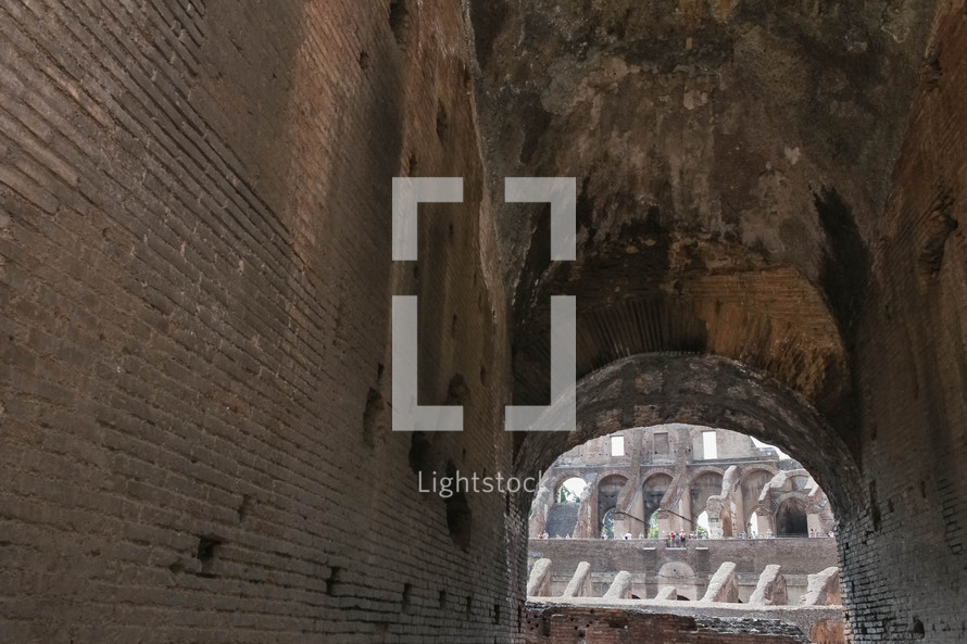 Coliseum in Rome tunnels