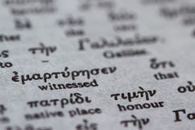 Greek to English Bible text.