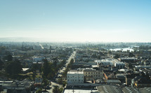aerial view over a city, cityscape,  view, urban, day, light, evangelism, outreach, pray for the city, street