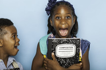 surprised kids for back to school