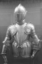 A suit of medieval armor