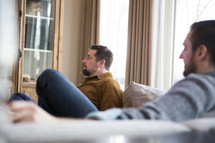 men watching football on Thanksgiving