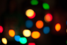 bokeh glowing colorful Christmas lights