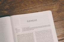 Bible opened to Genesis