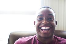 joy, exuberance, happiness, man, smile, African American