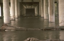 flooding under an overpass